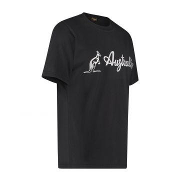 Australian T-shirt avec logo argenté | noir