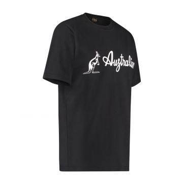 Australian T-shirt avec logo blanc | noir