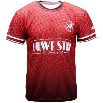 Ouwe stijl is botergeil t-shirt de football | rouge 004