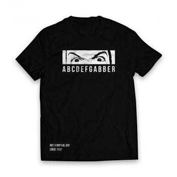 Peckerhead T-shirt ABCDEFGABBER | Zwart