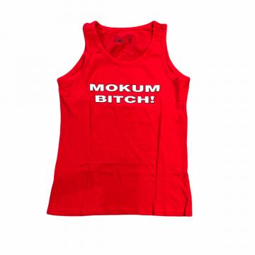 Mokum Records dames singlet Mokum Bitch! | rood