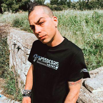 Speedcore Italia T-shirt SCIM-002 | zwart