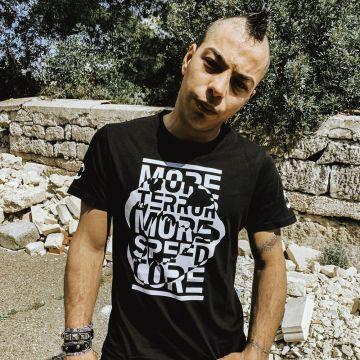 Speedcore Italia T-shirt SCIM-05 | zwart
