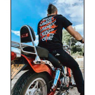 Speedcore Italia T-shirt logo bicolore [imprimé devant et derrière] | noir