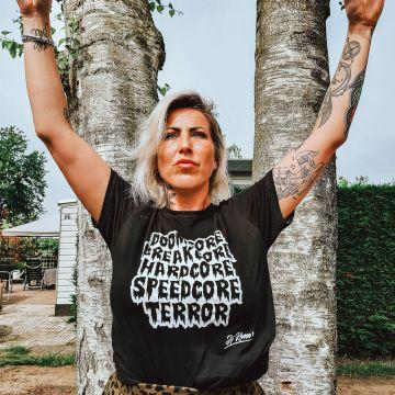 Speedcore Italia T-shirt DJ Rhose | zwart