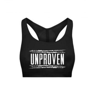 Unproven haut de sport pour femmes logo | noir