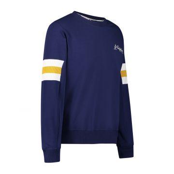 Australian sportswear crewneck coudes côtelés | bleu cosmo