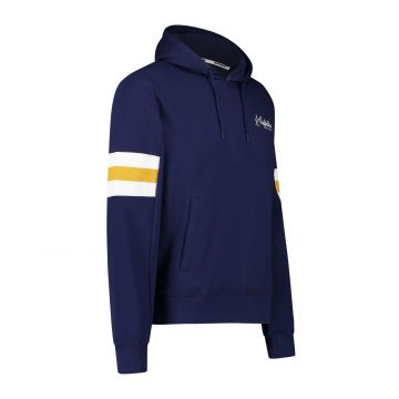 Australian sportswear pull à capuche patchs de bras blanc jaune   bleu cosmo