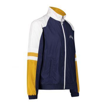 Australian sportswear veste de survêtement jaune manches blanches   bleu cosmo