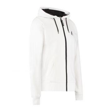 Australian sportswear sweat à capuche zippé imprimé abstrait de la capuche au dos | blanc