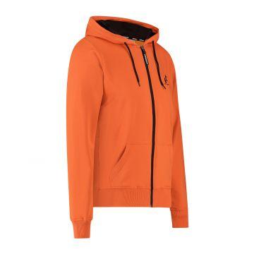 Australian sportswear sweat à capuche zippé imprimé abstrait de la capuche au dos | lave