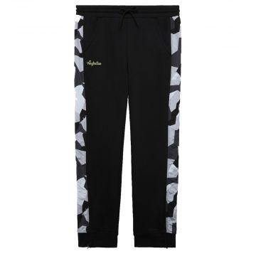 Australian sportswear pantalon de survêtement bande imprimé camouflage abstrait   noir