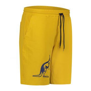 Australian sportswear bermuda avec gros kangourou bleu | jaune moutarde