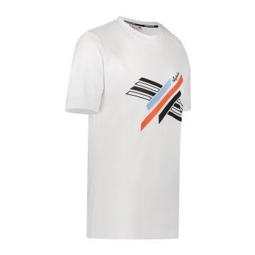 Australian Sportswear T-shirt met abstracte print op de voorkant | wit