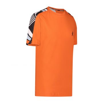 Australian sportswear T-shirt avec bande imprimée sur les épaules | lave