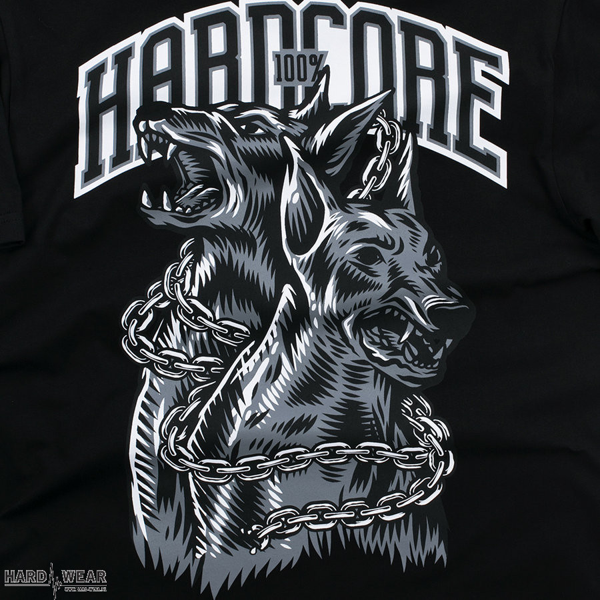 100% Hardcore t-shirt | doberman X noir