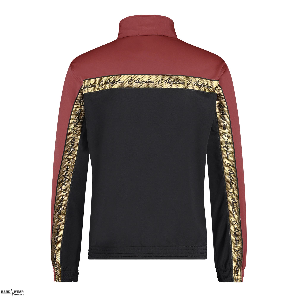 Australian veste duo bande de poitrine dorée 2.0   noir - bordeaux rouge