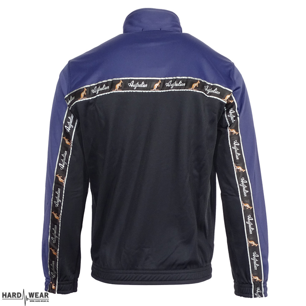 Australian veste avec bande noire | noir - bleu cosmo