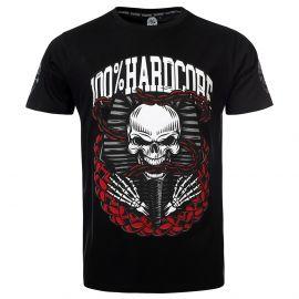 100% Hardcore T-shirt DEAD KINGS   zwart